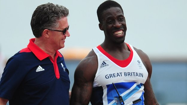 Charles van Commenee and Dwain Chambers