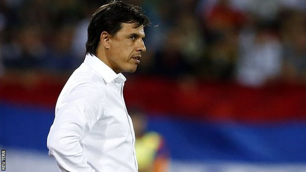 Chris Coleman watches Wales lose 6-1 in Novi Sad