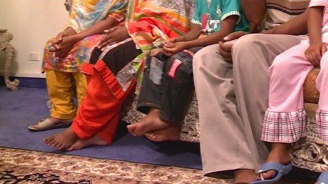 Family's feet