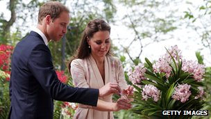 The Duke and Duchess of Cambridge in Singapore