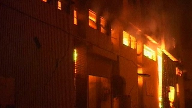 Fire at Karachi factory