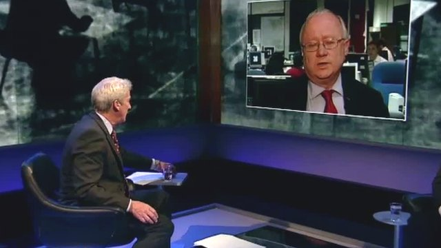 Jeremy Paxman interviews Leighton Andrews on BBC TV's Newsnight