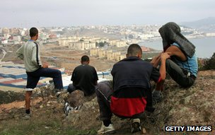 Moroccan youths survey Ceuta 