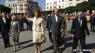 Spanish king in Melilla, 2007