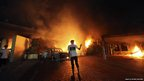 US consulate in the eastern Libyan city of Benghazi on fire