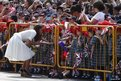 The Duchess of Cambridge greets her young fans during her visit to Gardens by the Bay in Singapore 