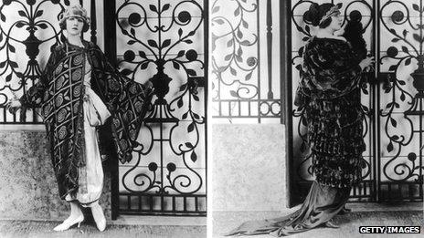 An opera cloak designed by Lady Duff Gordon
