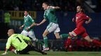 Dean Shiels puts Northern Ireland into an early lead - but Luxembourg scored a late goal to snatch a 1-1 draw