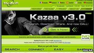 Kazaa screenshot