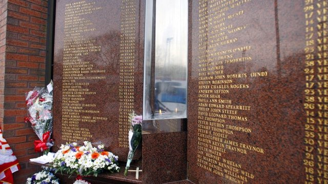 Hillsborough Memorial at Anfield in remembrance of 96 Liverpool fans who died at the Hillsborough Disaster