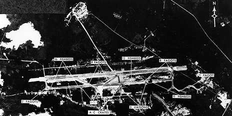 Aerial picture of missile site