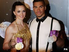 Victoria Pendleton and Louis Smith