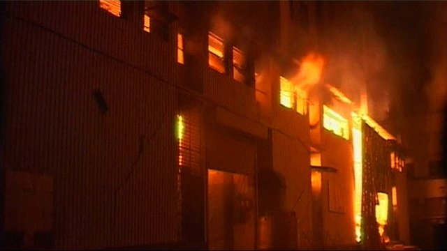Pakistan factory fire