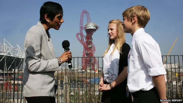 School Reporters at the Olympic Park