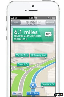 iPhone 5 with map
