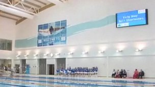 Bbc news shortage of swimming instructors at olympic standard pool in corby for Corby international swimming pool