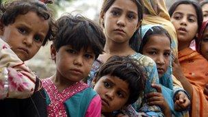 Children at Nowshera, near Peshawar, Pakistan