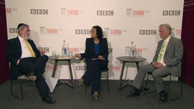 Jonathan Sacks, Samira Ahmed and Richard Dawkins