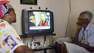Cubans watch TV