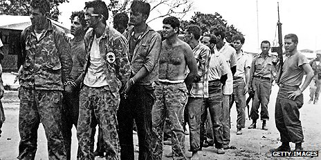 Captured exiles after Bay of Pigs invasion