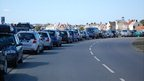 Guernsey Air Display 2012: Cars parked along Bulwer Avenue