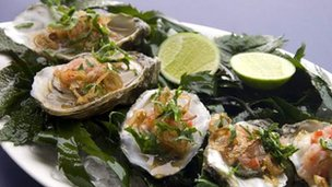 Oysters Vietnamese-style
