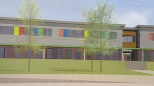 Plans for the new school in Tibshelf