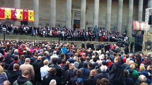 Hillsborough vigil in Liverpool