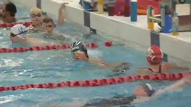 Swimmers in Corby pool