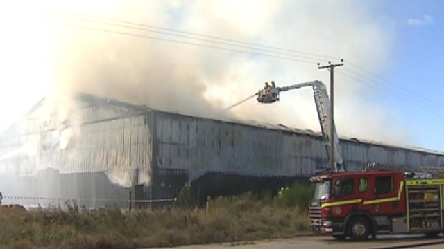 Roudham potato warehouse fire