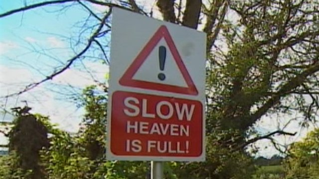 """Slow - Heaven is full"" sign in Devon"