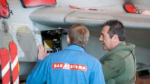 BAE Systems engineer with a military customer