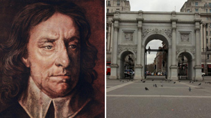 Oliver Cromwell and Marble Arch