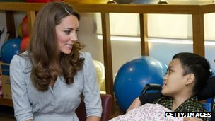 The Duchess of Cambridge meets  leukaemia patient Zakwan Anuar