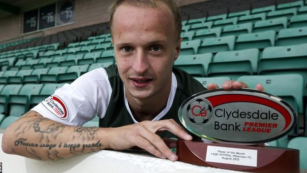 Hibs forward Leigh Griffiths