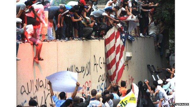 US Embassy under attack in Cairo