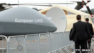 A European UAS EADS Cassidian drone at the ILA Air Show in Berlin