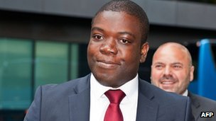 Kweku Adoboli arriving at court on 10/9/12