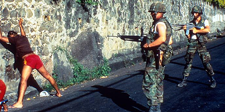 US troops in action in Grenada