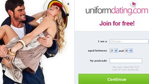 Uniform Dating website