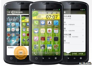 Phones with Aliyun operating system