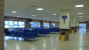 Plymouth departure lounge