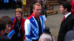 Sir Chris Hoy at Kelvingrove