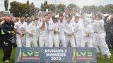 Derbyshire celebrate promotion