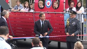 David Cameron opens RAF-themed playground