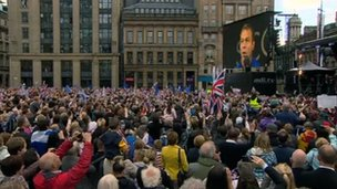 Crowds in George Square