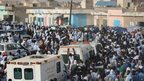 Mourners in Nouakchott, Mauritania - Wednesday 12 September 2012