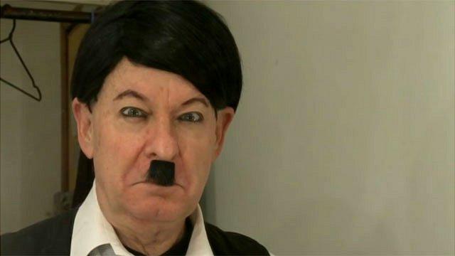 Pieter Dirk Uys impersonating Adolf Hitler