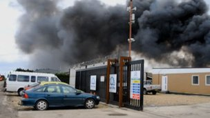 Fire at Bourne scrap yard