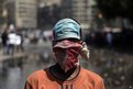 A protester in Cairo near the US embassy on 14 September 2012